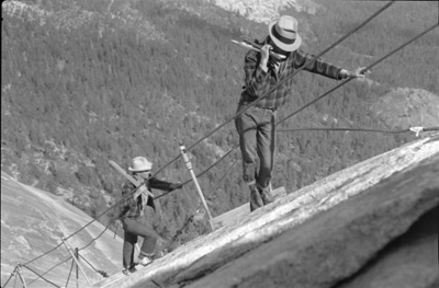 workers on side of mountain