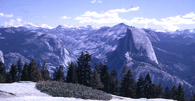 Half Dome and other peaks