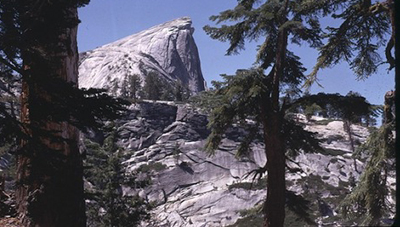 side view of Half Dome