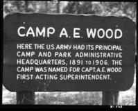 sign says camp AE Wood