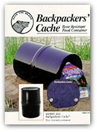 food storage canister for backpackers