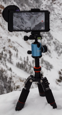 tripod with cell phone