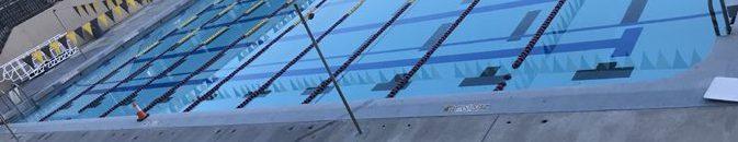 pylon at edge of pool