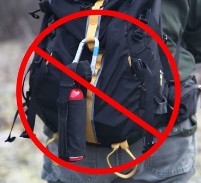 NPS photo bear spray should not be on the back side of your pack