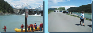 2 photos of riverside