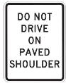 traffic sign Canada do not drive on paved shoulder