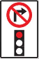 traffic sign Canada no right turn on red light