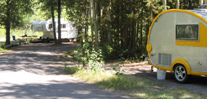 2 trailers in campsites