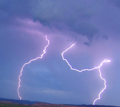 NPS photo lightning lavender clouds