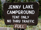 sign says Jenny Lake Campground