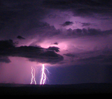 lightning dark purple sky NPS Photo by Jennette Jurado