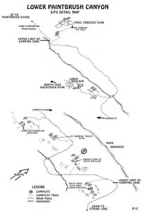simple map of campsites