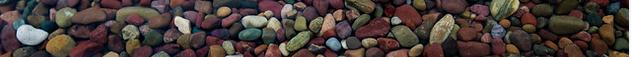 colored rocks at bottom of lake