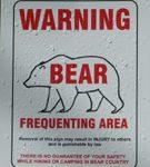 sign warning of bear
