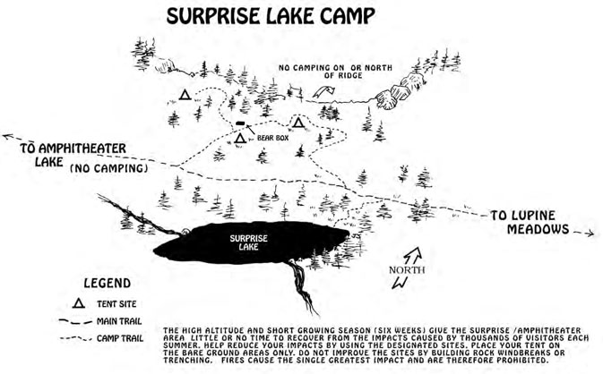 map with lake