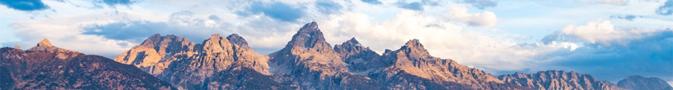 row of peaks