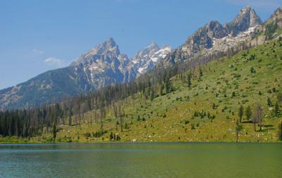 lake and peaks