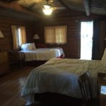 two beds in cabin
