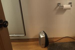 portable heater on floor