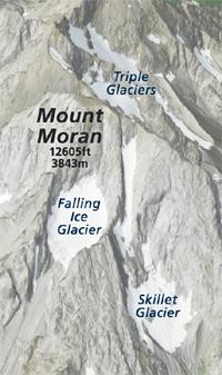 peak and glaciers