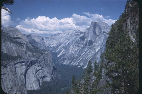 Half Dome and part of Yosemite valley