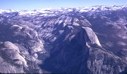 aerial view of Yosemite