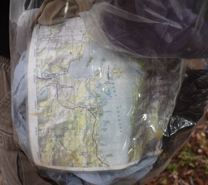 map in dry bag