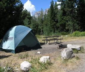 nps photo campsite at jenny lake campground grand teton national park