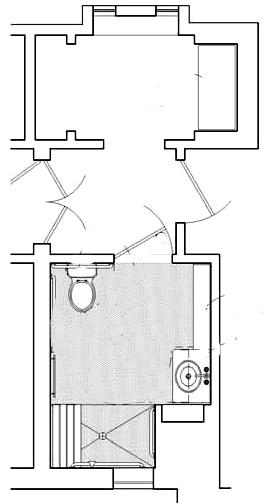 ADA bathroom floor plan