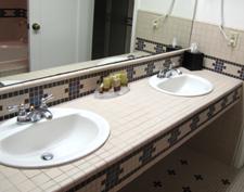 bathroom counter