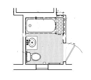 Ahwhanee hotel cottage bathroom floor plan rooms 720 &722