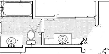 floorplan with second sink