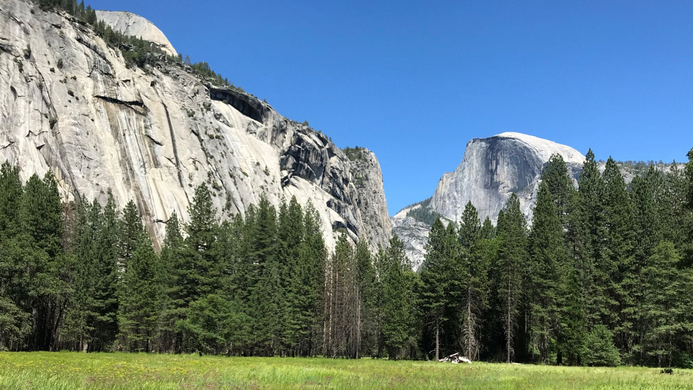 meadow and cliffs