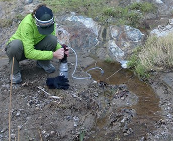 filtering water from near a spring