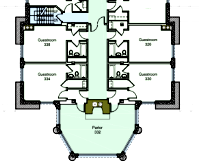 Yosemite Ahwahnee Hotel floor plan third floor suite with parlor and fireplace courtesy of NPS