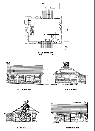 floor plan and exteriors