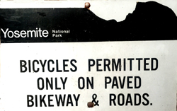 sign about bikes permitted