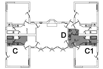 ahwahnee cottage floor plans D = 714 719 C= 710 711 717 716 C1 = 712 713 715 718