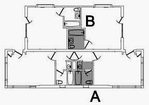 ahwahnee cottage floor plans a = rooms 721 723 B = rooms 720 722