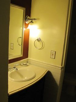 ahwahnee hotel cottage small sink counter