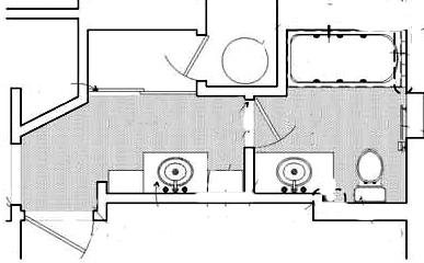 bathroom floor plan with second sink