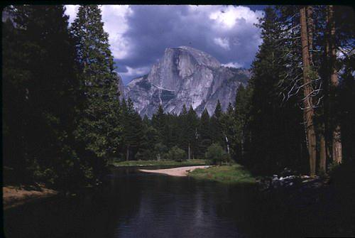 Half Dome and river