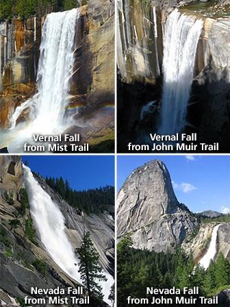 four views of waterfalls
