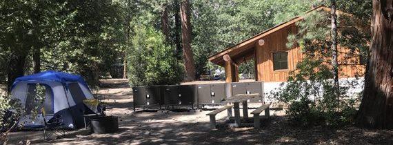 Camp 4 yosemite campsite next to new shower house 2021