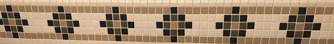 row of tiles