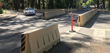 roadway with barriers