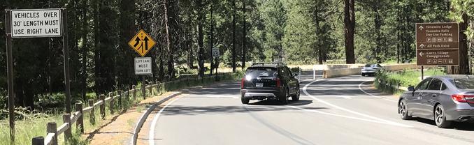 car changing lanes