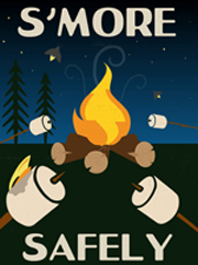poster says smore safely